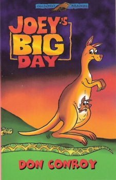 Joey the red kangaroo gets his big chance to leave the safety of his mummy's pouch and explore an amazing new world. There he finds a lot of weird and wonderful creatures and some not too friendly.
